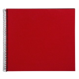 goldbuch Spiralalbum Bella Vista Uni rot gross